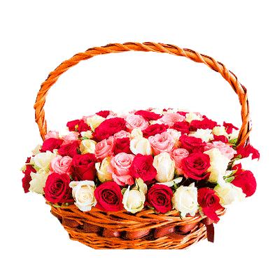 100-roses-basket-kochi