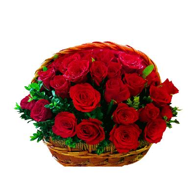 50-red-roses-basket-kochi
